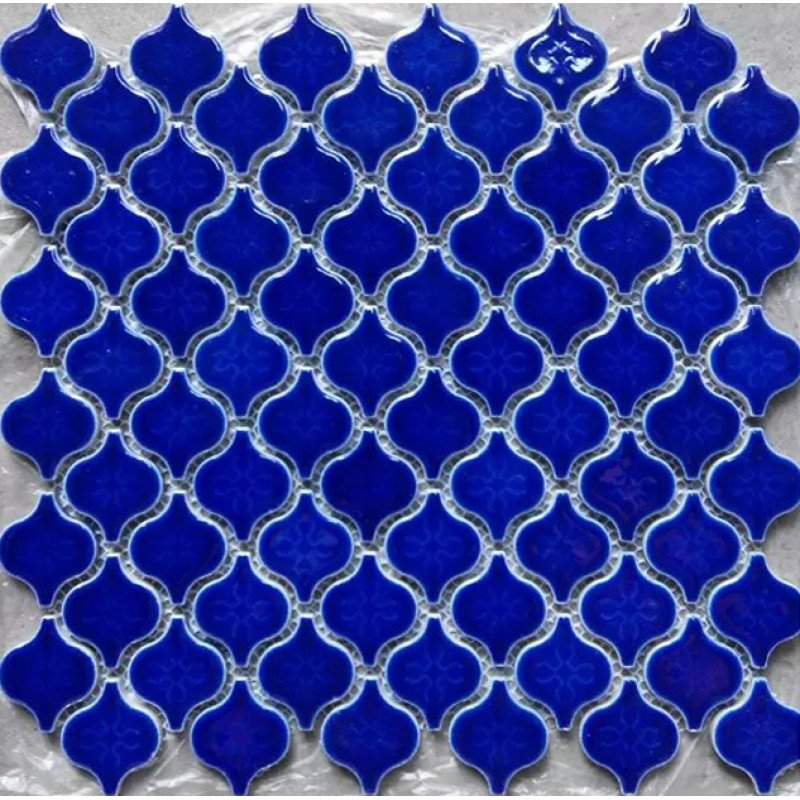 Blue Ceramic Mosaic Waterjet Porcelain