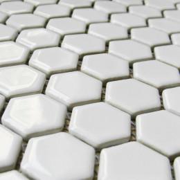 White Shiny Ceramic Mosaic Hexagon Porcelain Tile Backsplash Bathroom Wall and Floor Tiles